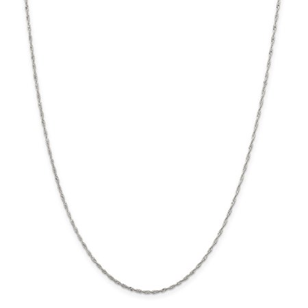 925 Sterling Silver 1.4mm Singapore Chain Necklace, Bracelet or Anklet