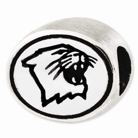 Sterling Silver & Enamel Northwestern University Collegiate Bead -