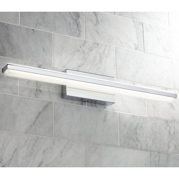 Possini Euro Design Modern Wall Light LED Chrome Hardwired ...