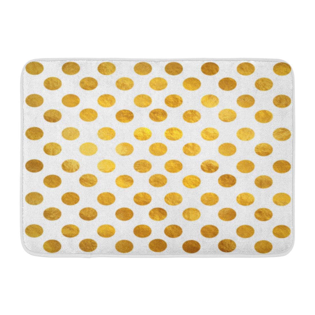 Gold White Polka Dot Pattern
