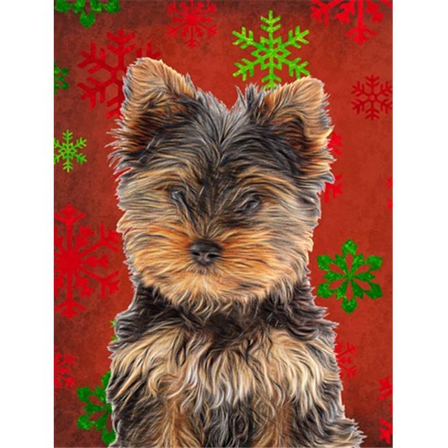 3D Rose Cute Yorkshire Terrier Yorkie Purple with Paw Prints Towel 15 x 22