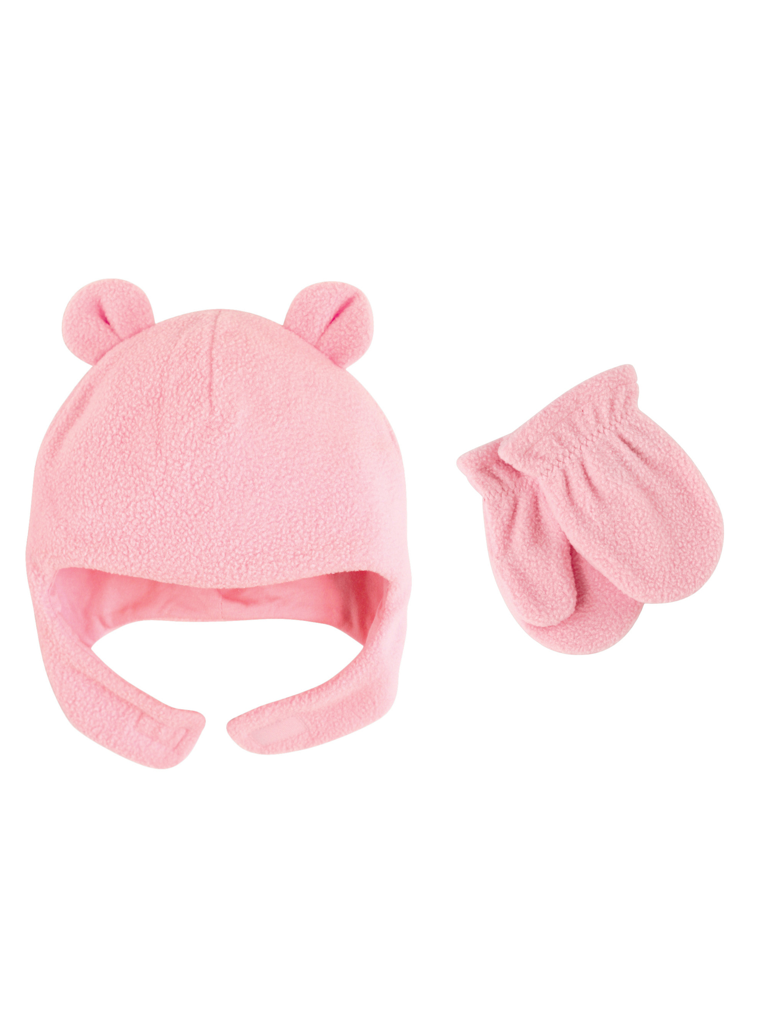 Toddler Girl Fleece Hat & Mittens 2pc Set