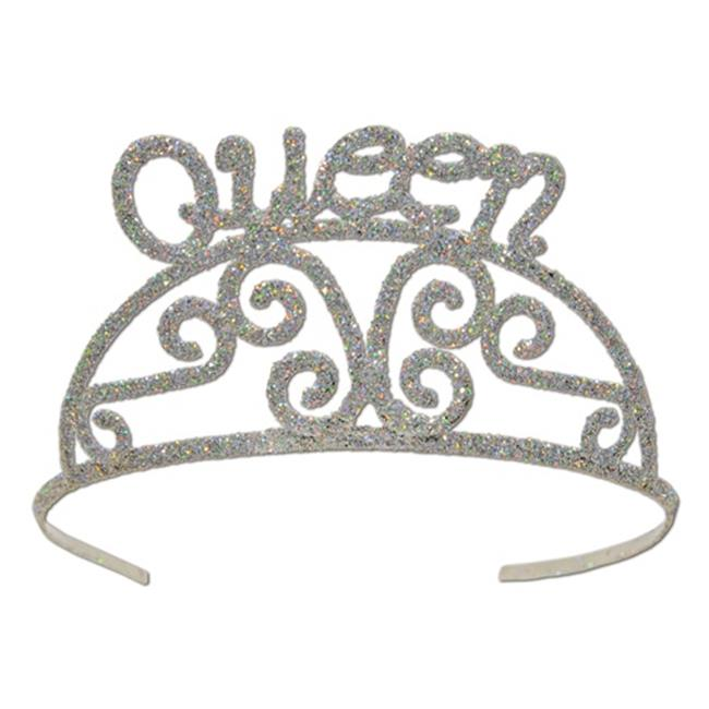 Beistle 60638 Glittered Queen Tiara - Pack of 6