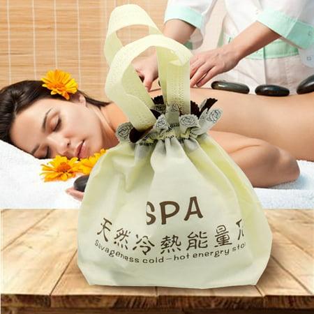 Aimeeli Electric Hot Stone Heate Bag, SPA Massage Hot Stone Warmer Heating Bag for Body Relax (Best Stones For Hot Stone Massage)