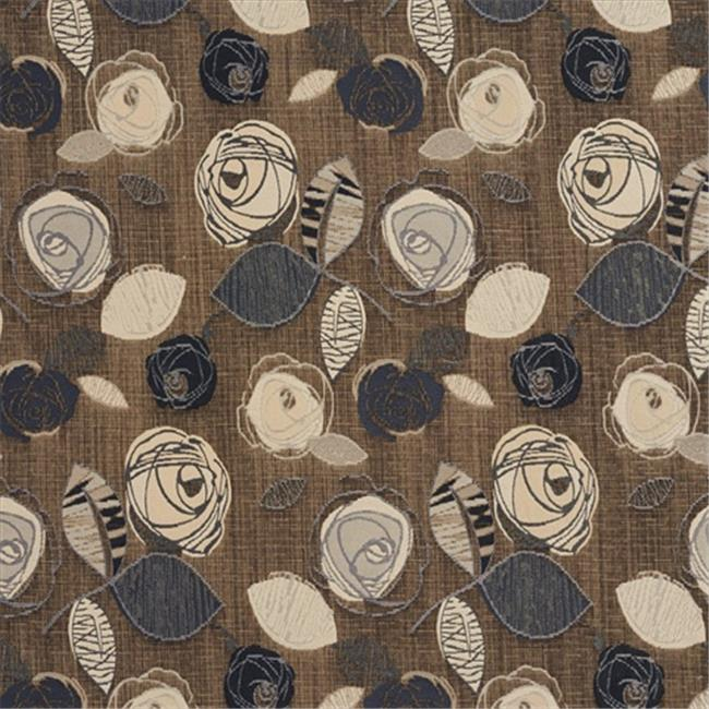 Designer Fabrics A378 54 in. Wide Silver Grey And Beige Leaves And Roses Tweed Textured Metallic Upholstery Fabric