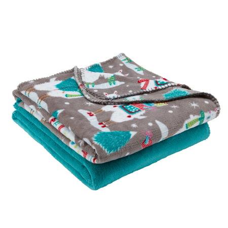 Mainstays Fleece Plush Throw Blanket Set Of 40 Llama Walmart Best Comfiest Throw Blanket