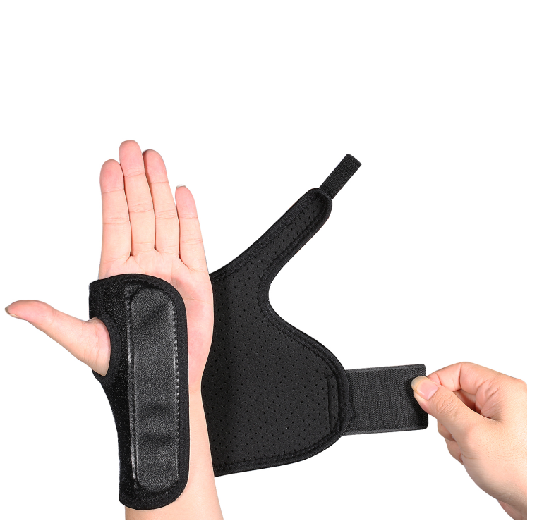 Black Wrist Brace with Support Splint Adjustable Splint Brace Wrist  Protection Night Support Recovery from Pain Carpal Tunnel Tendonitis  Arthritis
