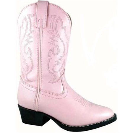 Pinks Denver (Smoky Mountain Boots Children Girls Denver Pink Leather Western 9.5)