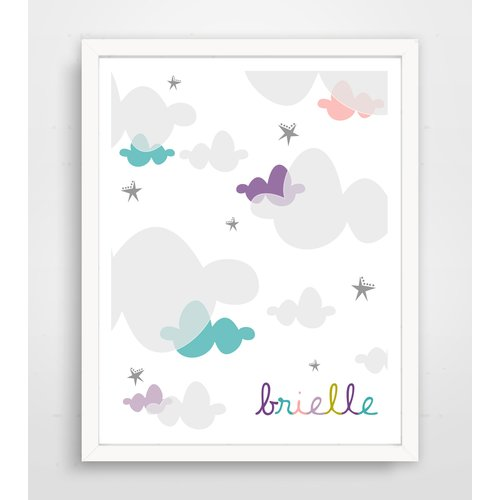 Finny and Zook Sweet Candy Clouds Framed Paper Print