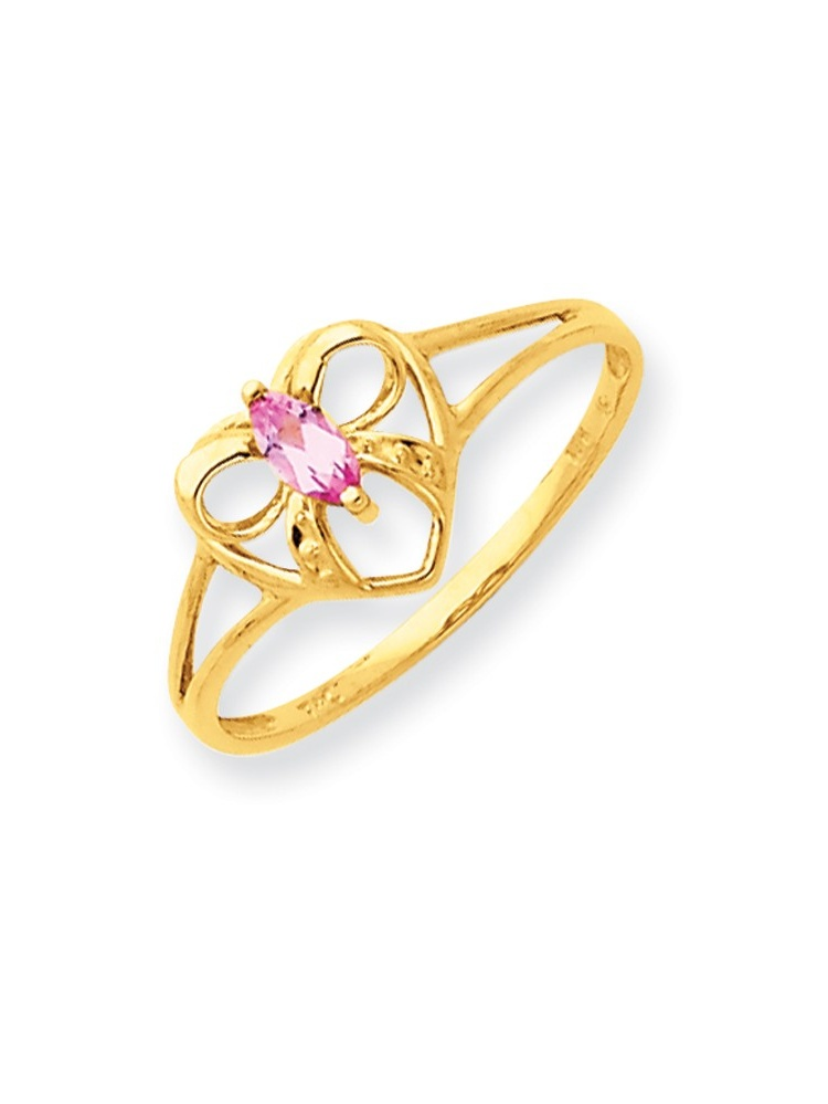 ICE CARATS ICE CARATS 14kt Yellow Gold Pink Tourmaline Birthstone Band Ring Size 6.00 Stone October Style Fine Jewelry... by IceCarats Designer Jewelry Gift USA