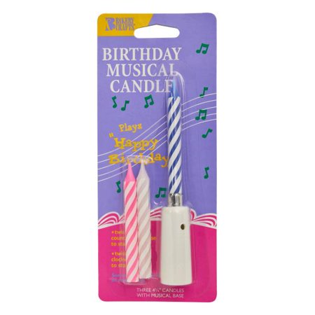 Musical Birthday Candle Candles