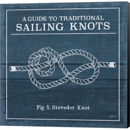 Vintage Sailing Knots VI by Mary Urban, Canvas Wall Art (Vintage Knot)