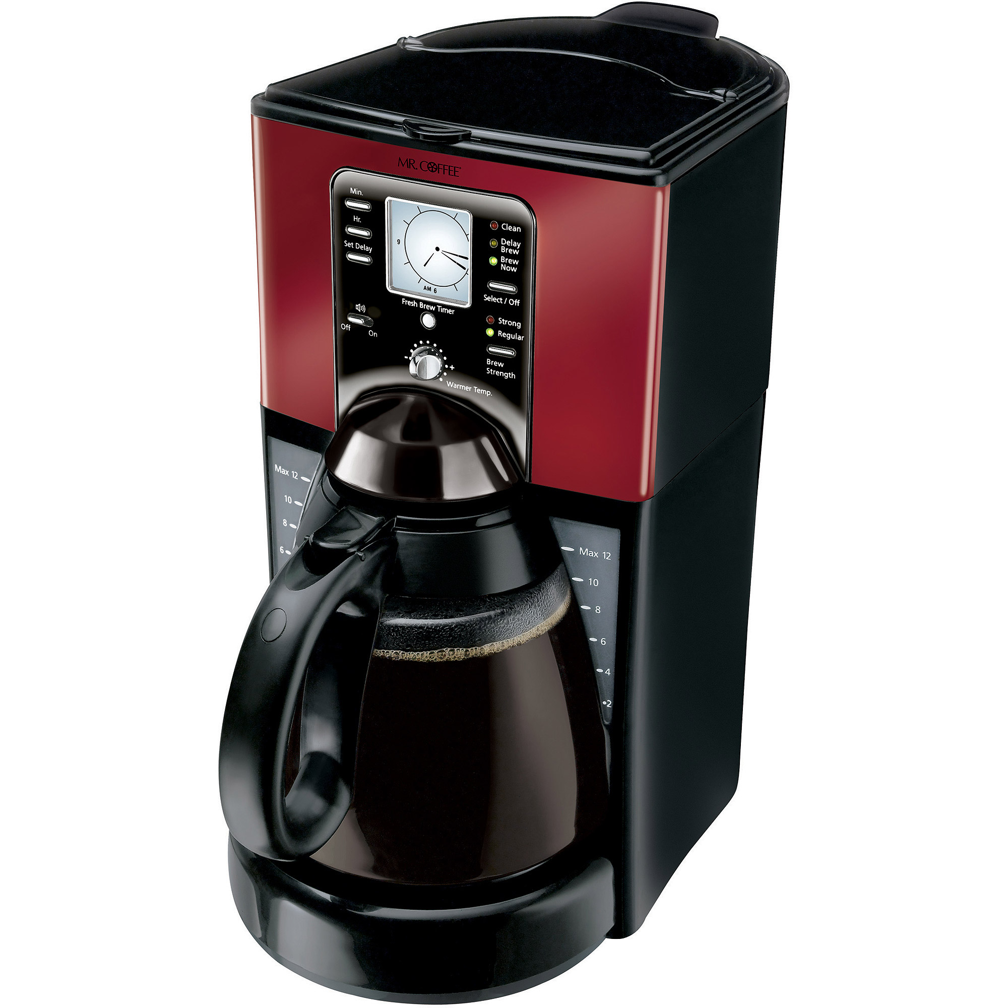 Mr. Coffee FTX Series 12-Cup Programmable Coffeemaker, FTX49-NP, Black