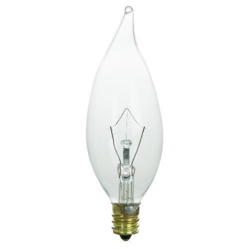 E12 Candelabra Base Box of 10 Bulbs 7G8 120 Volt 7 Watt Clear