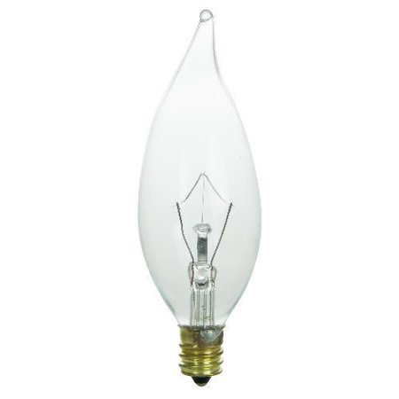 7 watt Flame 120 volt Candelabra Base Clear Chandelier E12 Light ...