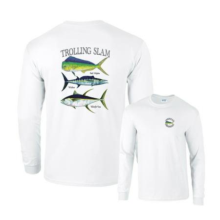Wahoo Shorts - Trolling Slam Bull Dolphin Wahoo Yellowfin Fishing Long Sleeve T-Shirt