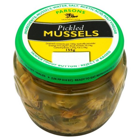 Shop Mussels (Parsons Welsh Pickled Mussels (155g) )