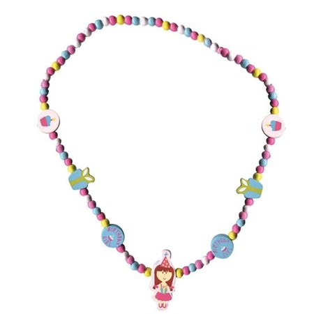 Sassafras 3850BY Wooden Bead Necklace, Birthday Girl