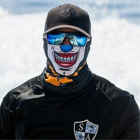 Salt Armour Twisted Joker Clown Face Shield Wind Sun Protection Mask SA