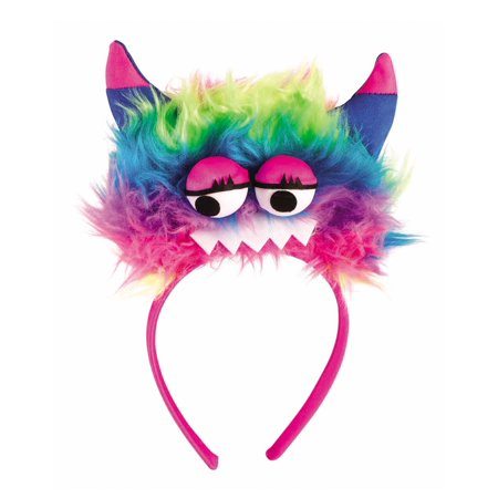 Monster Headband With Gloves Womens Adult Pink Costume Set - Womens Monster Costumes