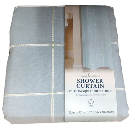 Home Clics Durham Square French Blue Shower Curtain Bath Decor