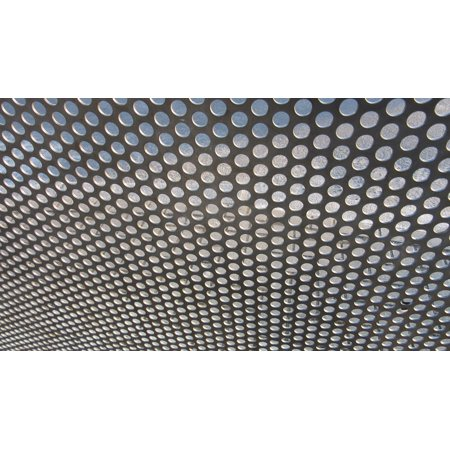 LAMINATED POSTER Grid Background Perforated Sheet Holes Sheet Metal Poster Print 24 x 36