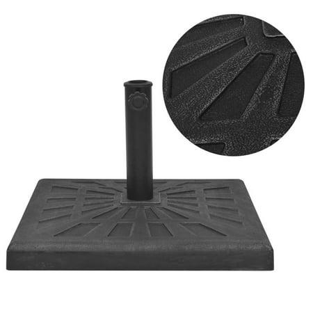 vidaXL Parasol Base Resin Square Black 26.5 lb