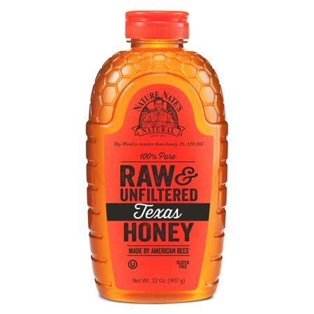 Nature Nate's Texas Honey, 100% Pure, Raw and Unfiltered, Non-GMO, 32 Oz