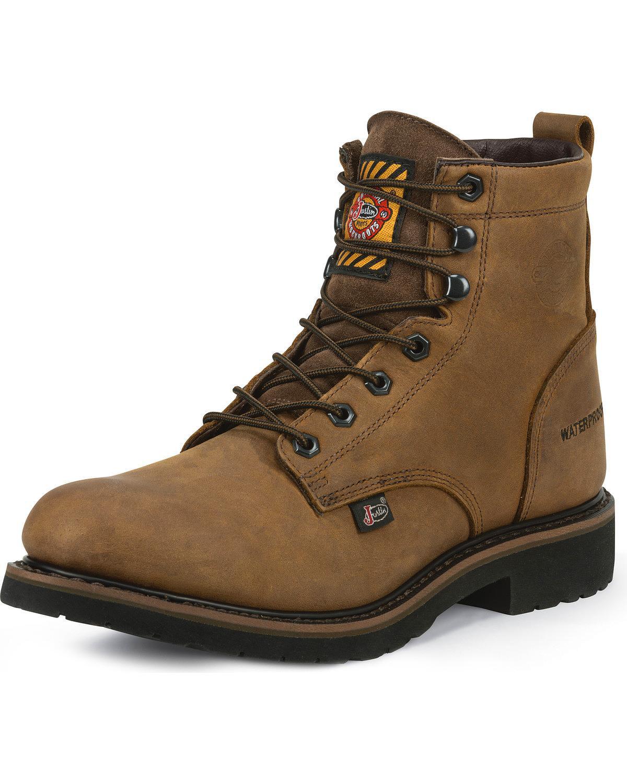 Justin Men's Wyoming Worker Ii Waterproof Work Boot Round Toe - Wk968