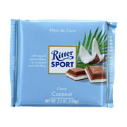 (12 Pack) Ritter Sportchocolate Coconut Bar, 3.5 Oz