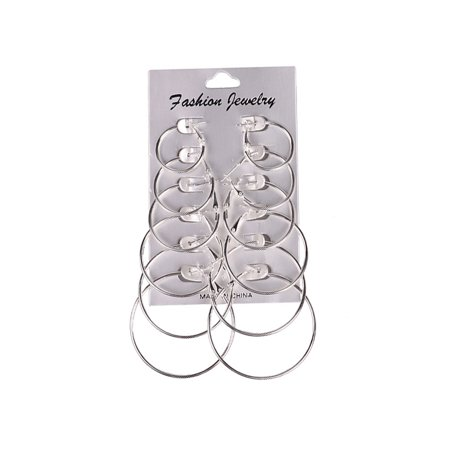 - Lavaport Women Fashion Hiphop Cool Big Circle Hoop Earring Set