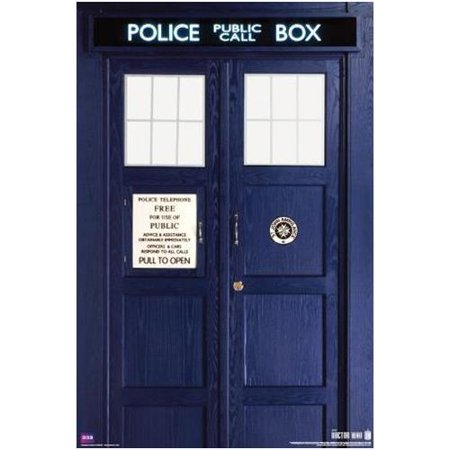 Doctor Who The Eleventh Doctors TARDIS Police Call Box  Matt Smith   36x24 Sci Fi British TV Television Show Poster (Best Sci Fi Tv Shows Of All Time)