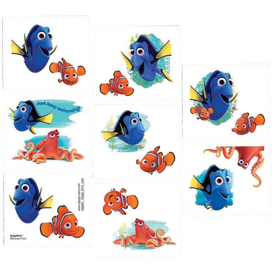 Disney Finding Dory Tattoos, 16ct