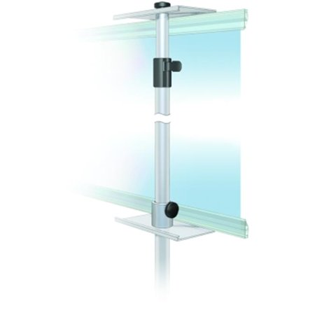 Testrite Visual Products MB6-B Promo Banner Stands 24 in. Double Snapgraphic Promo Stand-Black