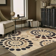 Superior Modern City Circle Collection with 10mm Pile and Jute Backing, Moisture Resistant and Anti-Static Indoor Area Rug