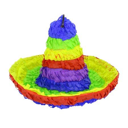 Lutema Mexican Sombrero Pinata Multicolored Mexican Hat (Piñata) Ideal for Kids (Sombrero For Sale)