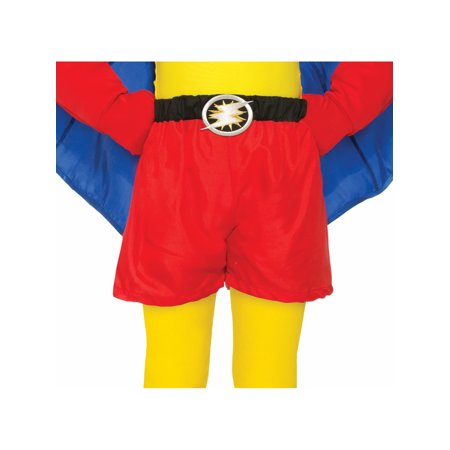 Child Size Be Your Own Superhero Boxer Shorts Red Halloween Costume Accessory - Child Boxer Costume