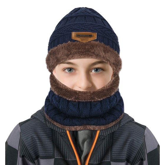 4f038036da3 VBIGER - VBIGER Kids Winter Warm Knit Beanie Cap and Circle Scarf ...