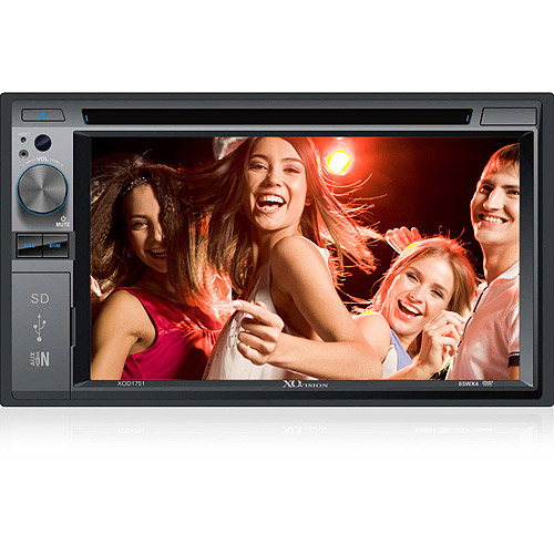 """XO Vision 6.2"""" In-Dash Touchscreen DVD Receiver w/SD Card Slot and USB Input, XOD1751"""