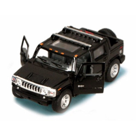 2005 Hummer H2 SUT Pickup Truck, Black - Kinsmart 5097D - 1/40 scale Diecast Model Toy Car (Brand New, but NOT IN BOX) 64 Scale Diecast Truck Car