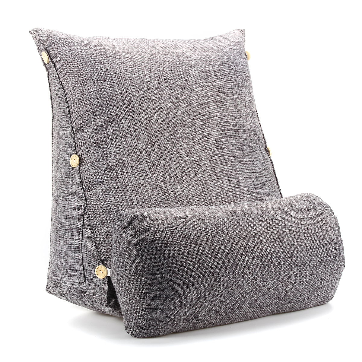 Picture of: Adjustable Wedge Cotton Back Cushion Pillow Office Sofa Bed Backrest Waist Support Smoke Grey Size 18 X18 X8 Walmart Com Walmart Com