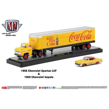 M2 Machines Auto Hauler Coca-Cola 1958 Chevrolet Spartan LCF & 1958