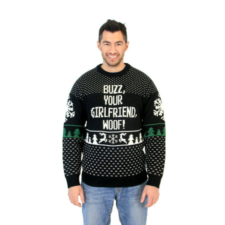 Adult Home Alone Buzz Your Girlfriend Woof Sweater - Buzz Home Alone
