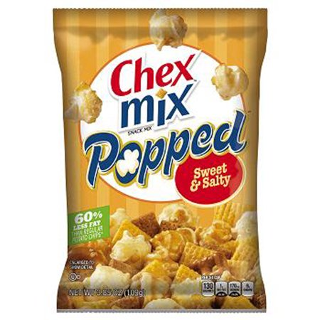 Product Of Chex Mix Popped, Sweet & Salty, Count 6 (3.85 oz) - Snacks / Grab Varieties & Flavors - Halloween Chex Mix Salty