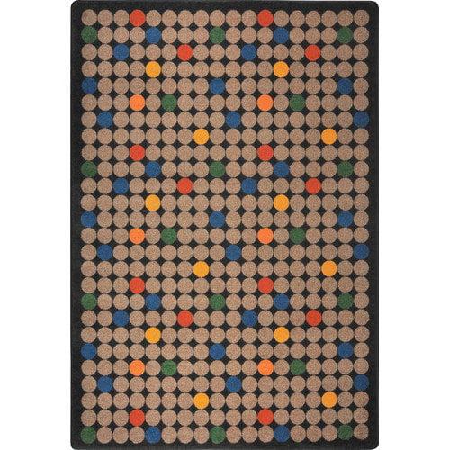 Joy Carpets Playful Patterns Spot On Brown Area Rug