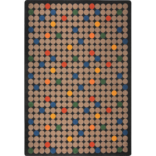 Joy Carpets Playful Patterns Spot On Brown Area Rug