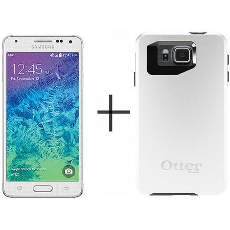 new arrival f29e0 4c8b1 Samsung Galaxy Alpha G850A 32GB AT&T Unlocked GSM LTE 4G LTE Octa-Core  Phone w/ 12MP Camera - White + OtterBox Symmetry Case - Glacier