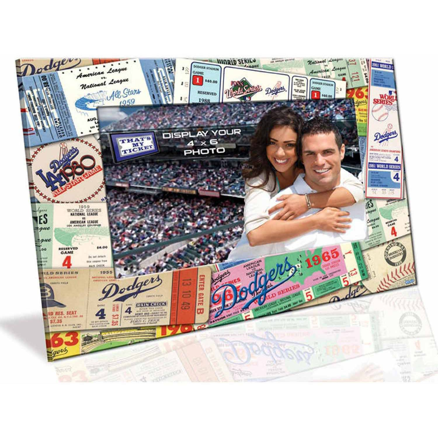 """MLB Los Angeles Dodgers Ticket Collage 4"""" x 6"""" Picture Frame"""