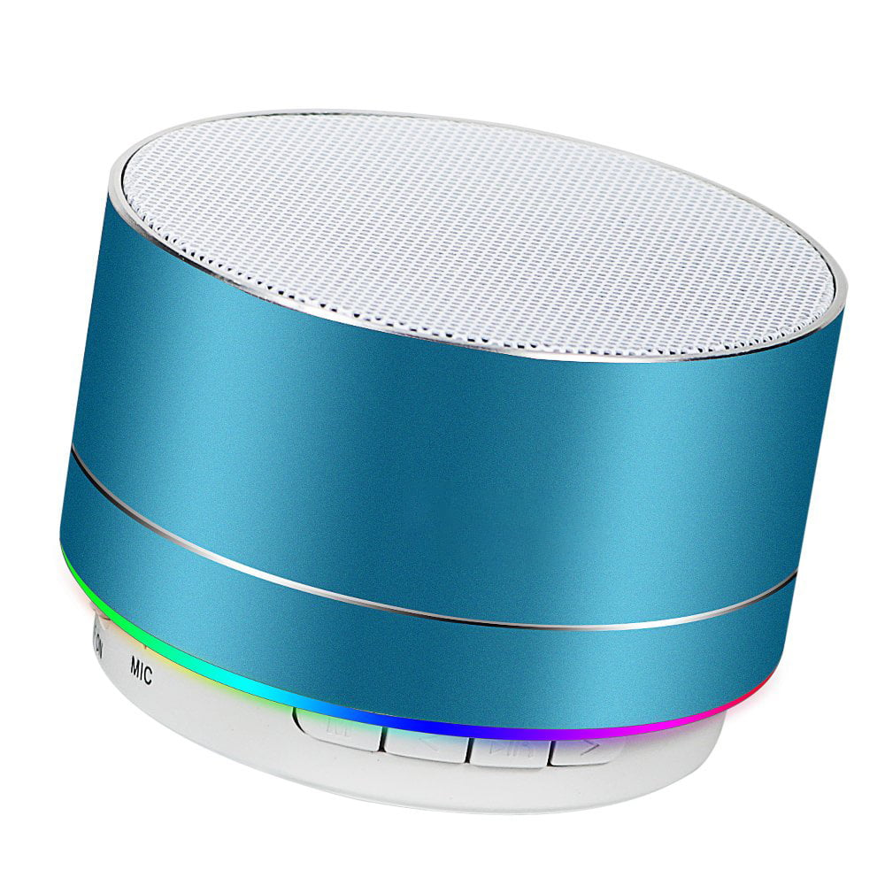 Vertily Stereoscopic Mirror Wireless Bluetooth Speaker Support Clock Alarm Fm Radio Bluetooth Speaker for Bedrooms Wireless Portable Speaker Built-in Micro Support Tf Card Aux with USB Charging