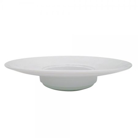Cac China Hmy 123 11 3 4 Inch Harmony Porcelain Wide Rim Pasta Bowl  12 Ounce  White  Box Of 12